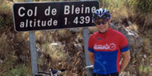 Simon Wegerif cycling the Col de Bleine
