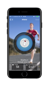 Paced breathing in the ithlete HRV app