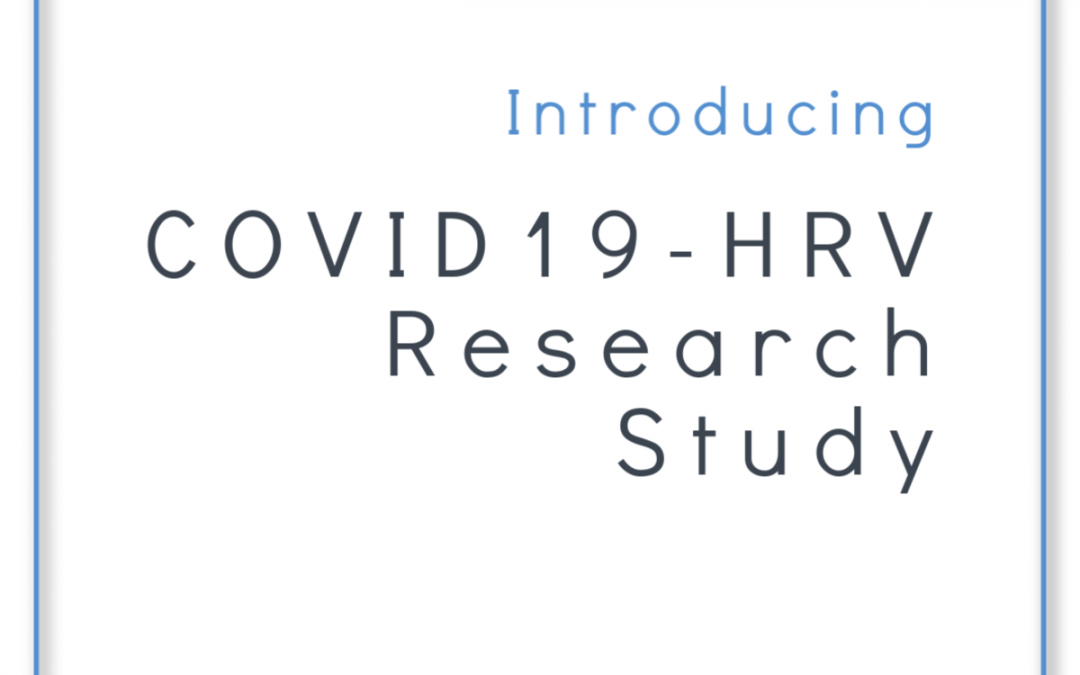 We've been awarded a grant to research the relationship between COVID19 and HRV!